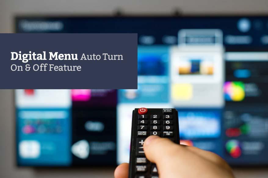 Digital menu display auto on off