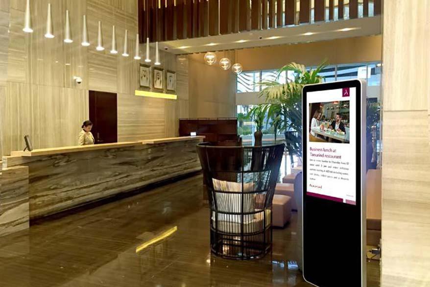 Digital signage for hospitality