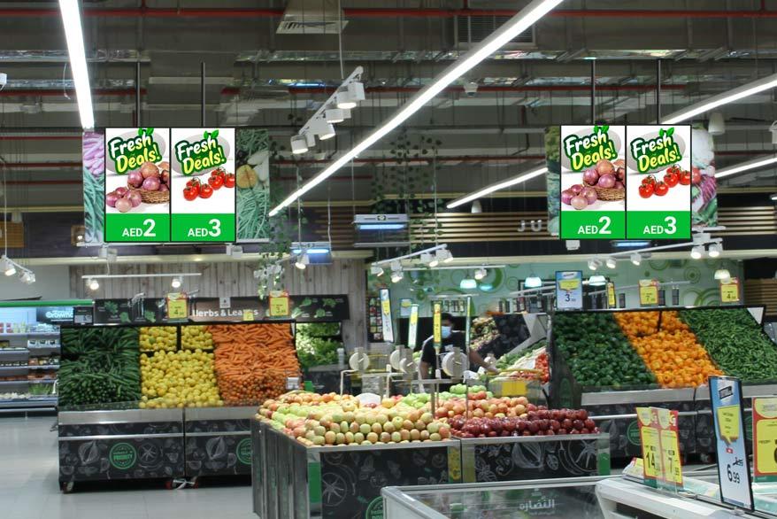 Digital poster in super market